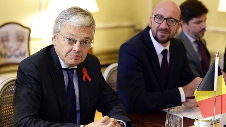 Vice-premier Didier Reynders en premier Charles Michel.