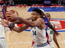 Bucks hervatten NBA met winst op Pistons