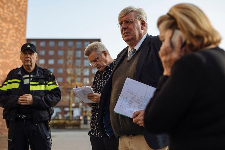 Rechter Van den Brink (m): 'Bij een strafzaak ben ik nooit bang geweest, maar bij deze zittingen wel verschillende keren' Beeld Marc Driessen