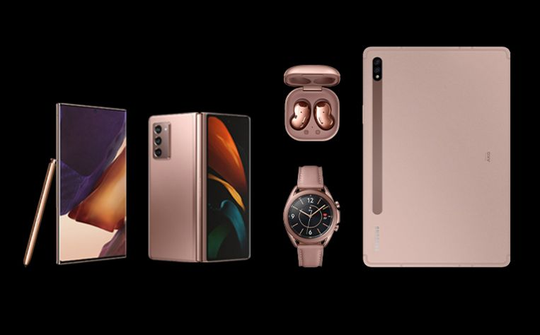 De Samsung Galaxy Note 20 Ultra, Galaxy Z Flip 2, Galaxy Buds Live, Galaxy Watch 3 en Tab S7.