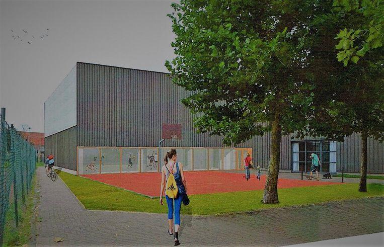 Een toekomstbeeld van de nieuwe sportzaal.