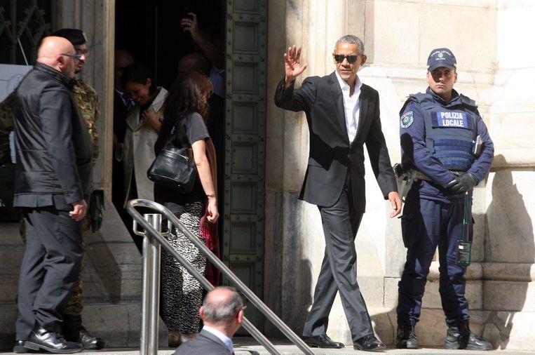 In Italië stonden 300 agenten in voor Obama's veiligheid.