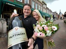 Dames stelen en retourneren 9 liter fles champagne van 900 euro