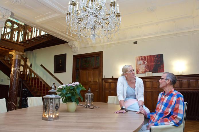 Martien Kaats en echtgenote Yvonne in hospice Rozendaal, ruim drie weken geleden. Foto: Marc Pluim