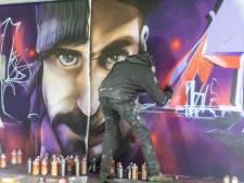 Kunstwerken vrolijken betonnen muren parkeergarage Pathé op