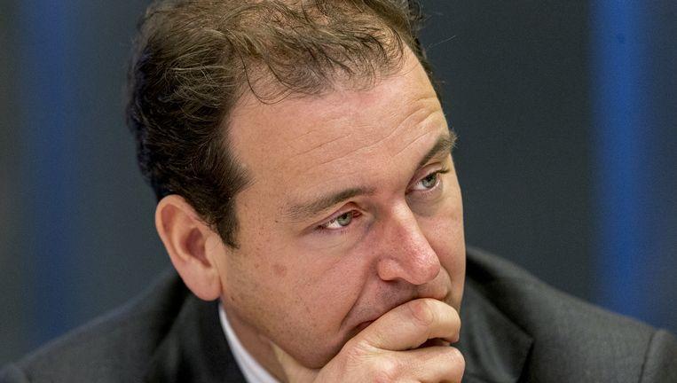 Lodewijk Asscher Minister van Sociale Zaken en Werkgelegenheid tijdens een algemeen overleg in de Tweede Kamer over de preventie van radicalisering. Beeld anp