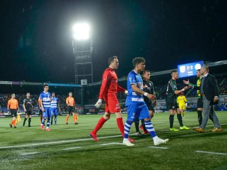 PEC Zwolle en FC Groningen spelen komende maandagavond verder