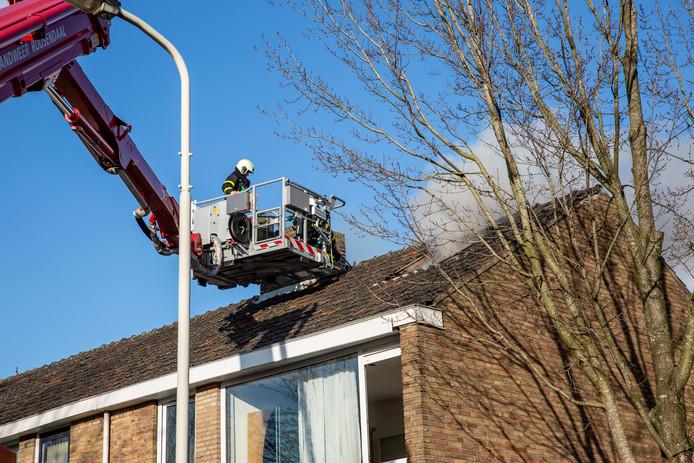 Woningbrand in Roosendaal.