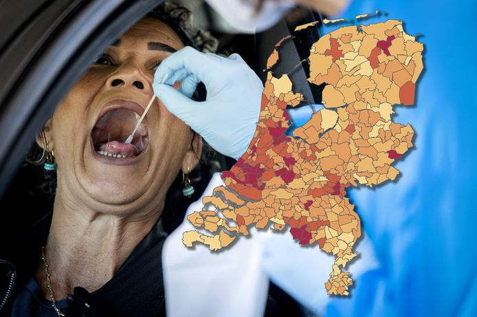 Het aantal besmettingen per 100.000 inwoners is in vier weken tijd vervijfvoudigd.