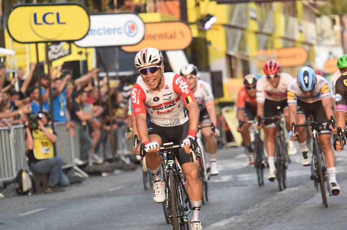 Caleb Ewan was de sprintkoning van de Tour de France.