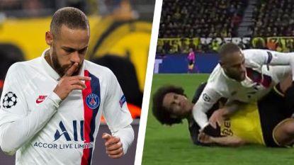 Neymar snoeihard voor PSG en medische staf. En dan was er nog dat geniepig elleboogje bij Axel Witsel
