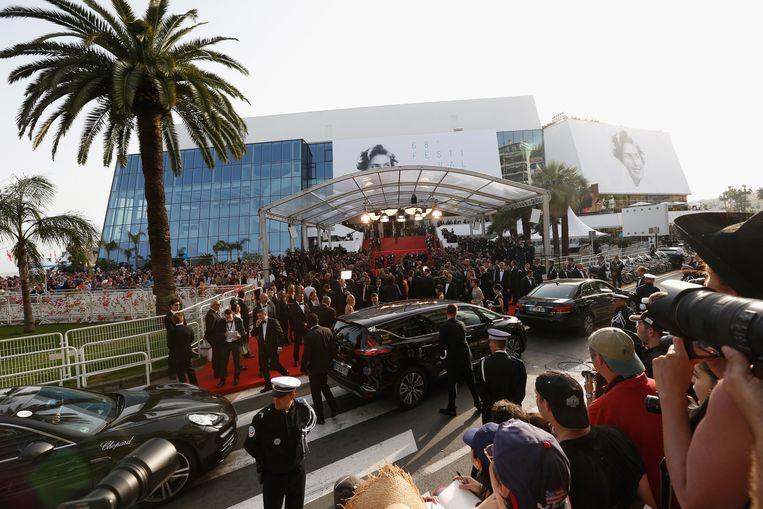 De rode loper van het festivalpaleis in Cannes. Beeld Reuters