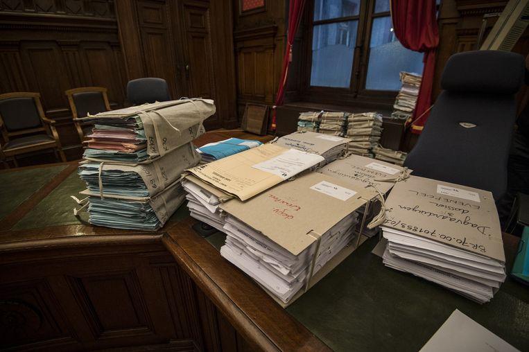 Archiefbeeld van de vele dossiers in het proces rond corruptie bij de Regie der Gebouwen.