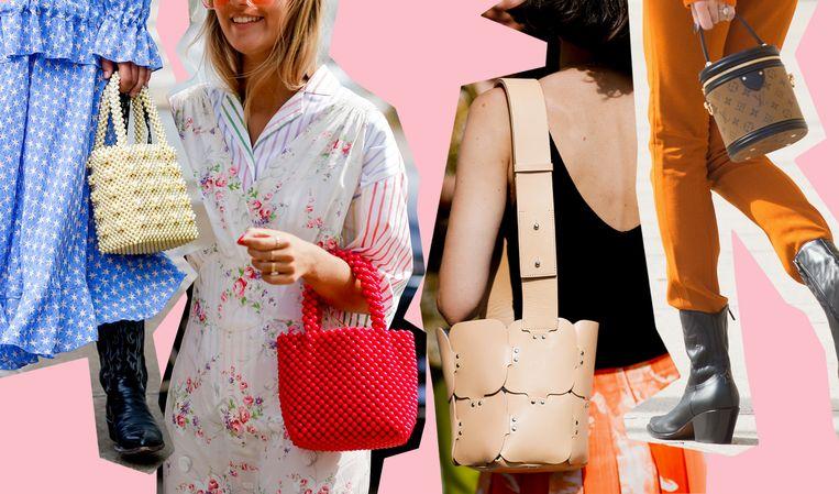 Zelfs Anna Wintour is ervan overtuigd: de bucket bag wordt de it-tas van deze lente.