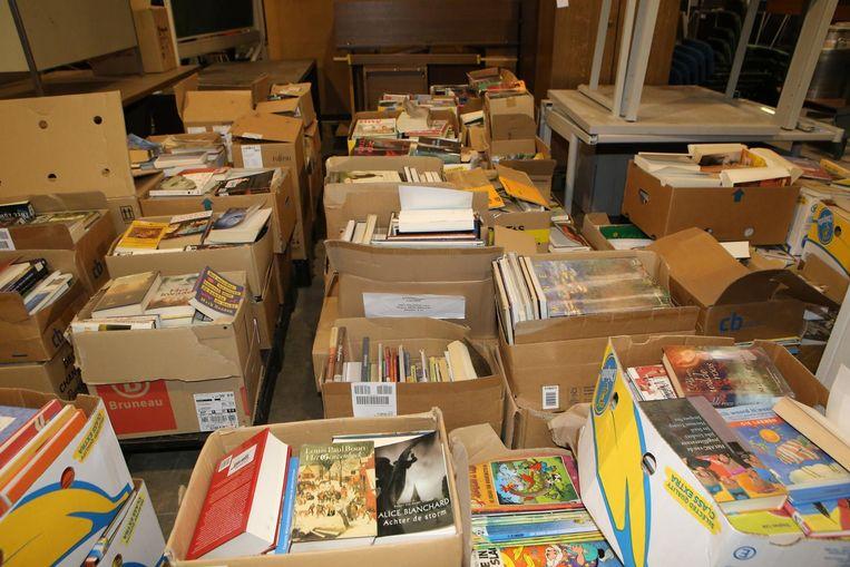 Voldoende strips en romans uit de bibliotheek voorhanden.