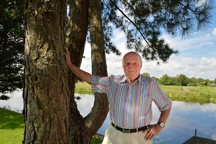 Jaap Verhage uit Haastrecht, een van de bewoners die fel tegen komst van proefboringen in Haastrecht is.