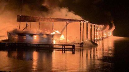 Minstens acht doden bij brand in jachthaven Alabama