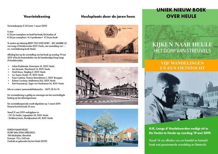 Het boek bevat oude en nieuwe foto's van Heule.