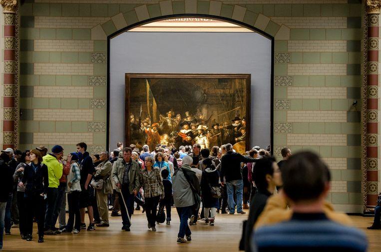 Drukte in het Rijksmuseum. Beeld anp