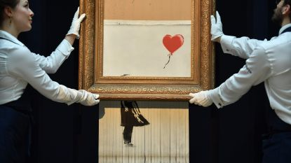 """Banksy wilde kunstwerk bij veiling volledig vernietigen: """"Mechanisme haperde"""""""