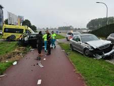 Frontale botsing op Biesbosweg in Waalwijk: vrouw gewond