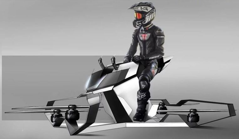 Een prototype van de Hoverbike.