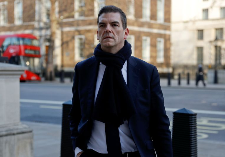 Olly Robbins in Londen.