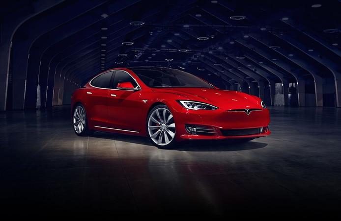Elektrische auto van Tesla