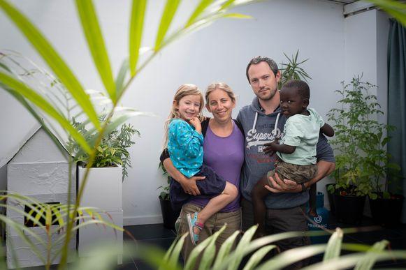 Het gezin van Marijke Hendrickx en Alain Hamaide.