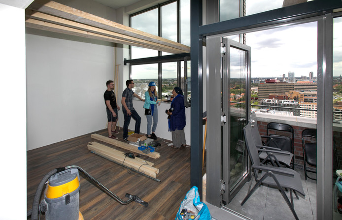 ronleiding nieuwe woonblokken Space-S in Eindhoven