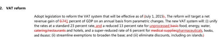 Wijzigingen in het voorstel voor de btw-hervorming (klik op het foto-icoontje voor een grotere versie).