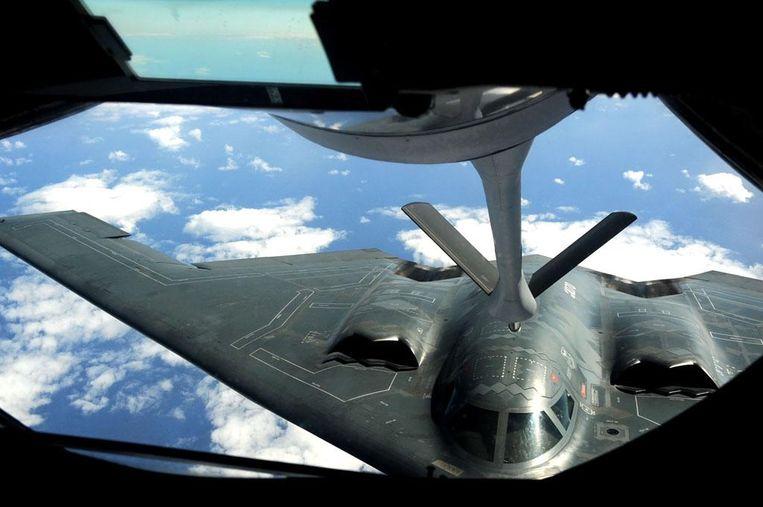 De VS stuurden in 2013 de stealth-bommenwerper B-2 Spirit naar Guam voor zogenaamde 'trainingsvluchten'. Ze waren echter ook bedoeld om Noord-Korea te waarschuwen niet te ver te gaan. Beeld US Air Force