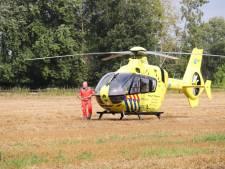 Traumaheli naar bedrijfsongeval in Kootwijkerbroek