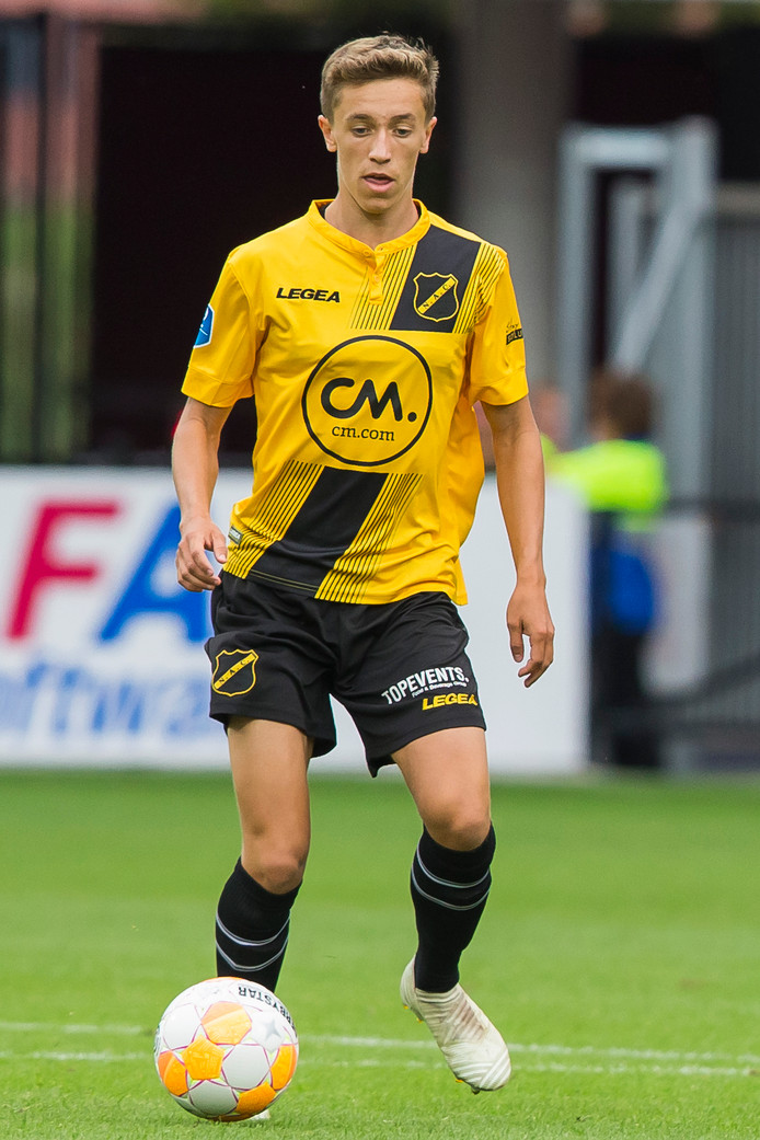 ALKMAAR, AFAS Stadium, 12-08-2018 , season 2018 - 2019 , Dutch Eredivisie. final result 5-0, NAC player Jordan van der Gaag during the match AZ - NAC