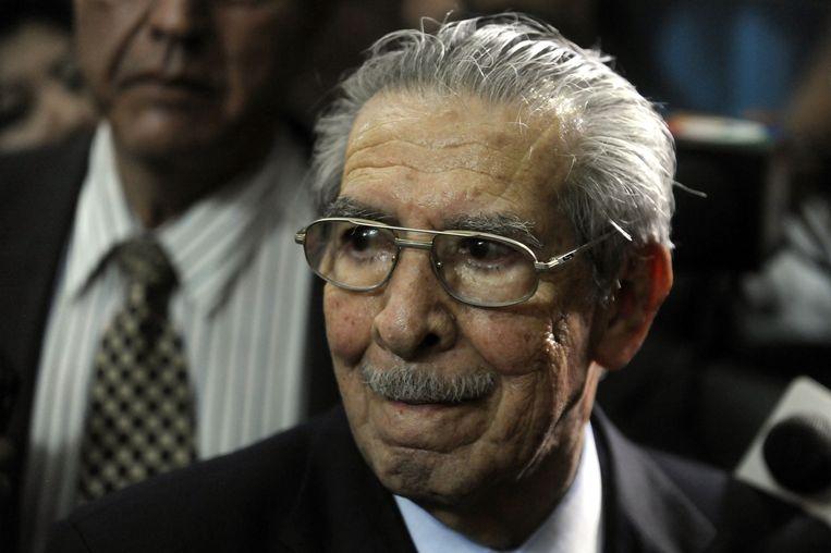 Voormalig president generaal Jose Efrain Rios Montt in 2013.