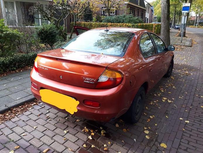 De auto van de man werd in beslag genomen.