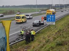 Gewonde bij ongeval A58 Tilburg