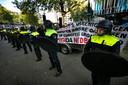 De Pegida-betoging afgelopen zondag in Eindhoven.