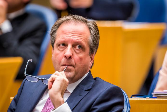 Alexander Pechtold (D66) tijdens een plenair debat in de Tweede Kamer.