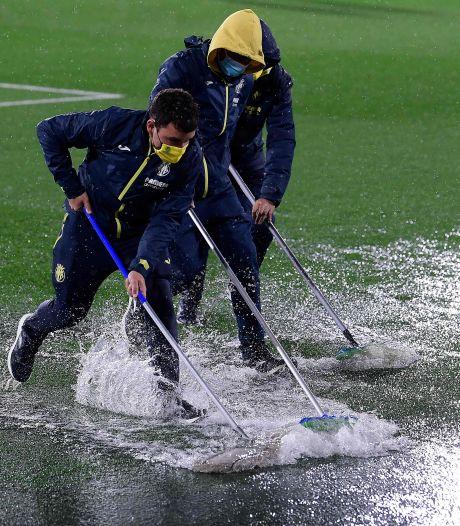 Gigantische hoosbui treft Villarreal, duel met Maccabi Tel Aviv een uur uitgesteld