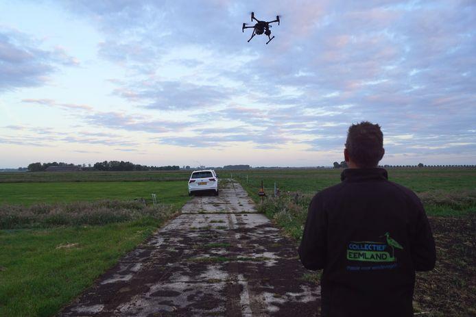 Met drones worden de nesten opgespoord.