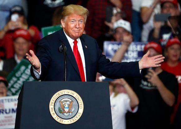 President Trump toont zich tevreden met het behoud van de Republikeinse meerderheid in de Senaat.