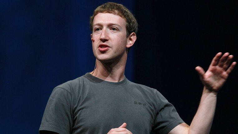 Mark Zuckerberg (28). Zijn bedrijf is een hype: de openingskoers op de beurs is 40 dollar per aandeel. Beeld getty