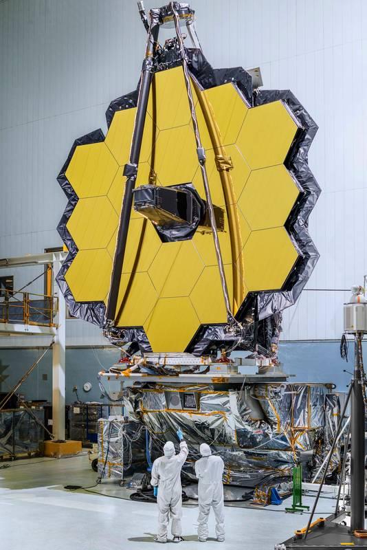 Naar verwachting gaat de Webb pas in maart 2012 de ruimte in.