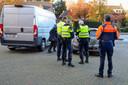Ook bij de grensovergang in Budel werkten de Belgische en Nederlandse politie samen.