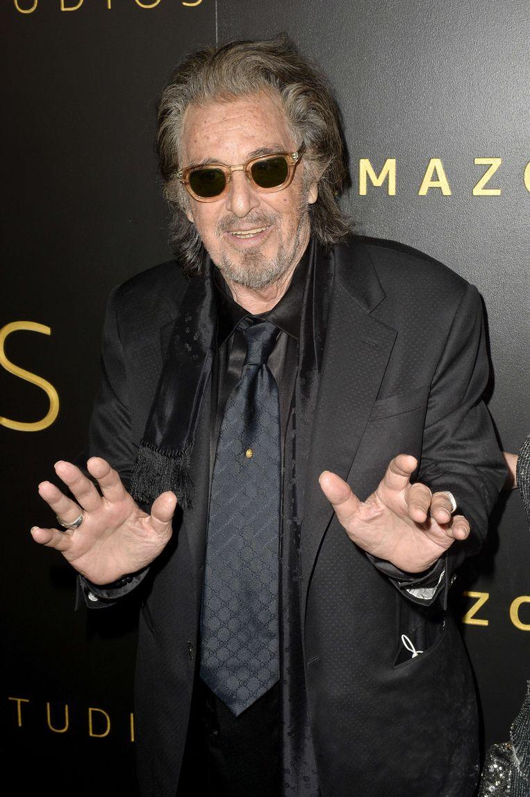Al Pacino tijdens de Golden Globes.