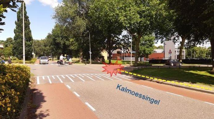 De Kalmoessingel in Kampen waar de mishandeling vanmiddag plaatsvond.