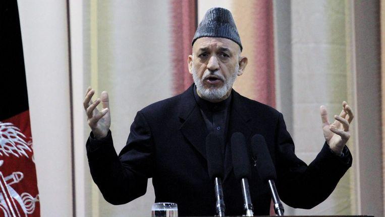 De Afghaanse President Hamid Karzai. Beeld null