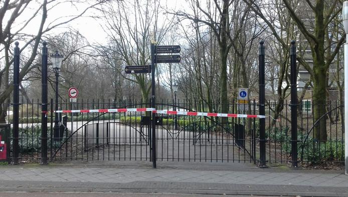 Het Oosterpark was afgesloten voor onderzoek