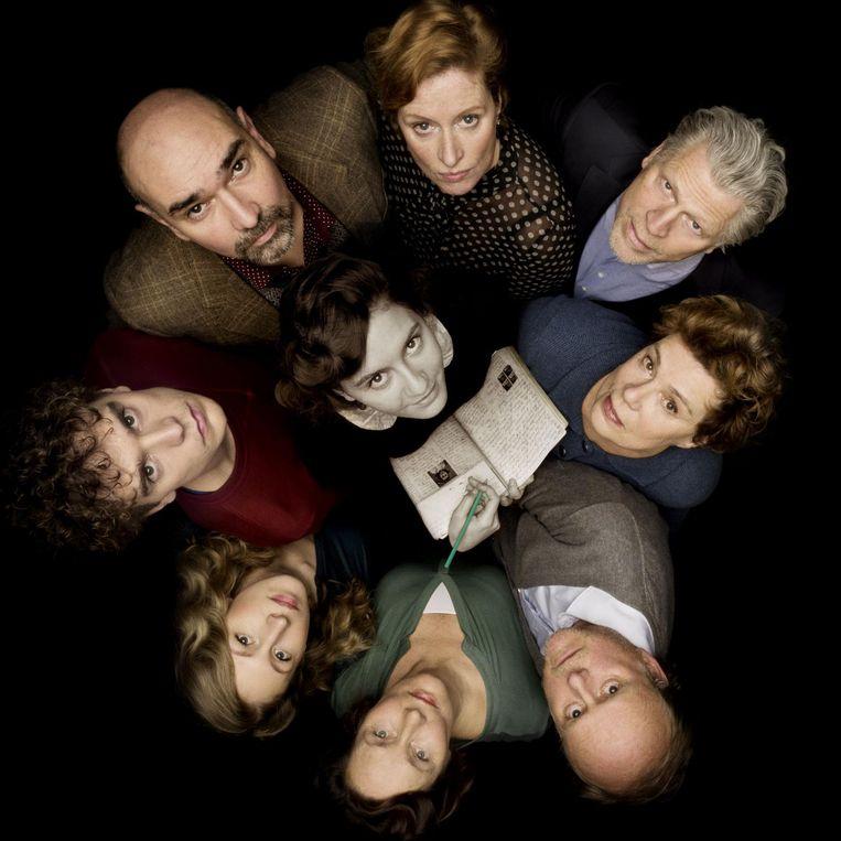 De cast van Achter het Huis. Beeld
